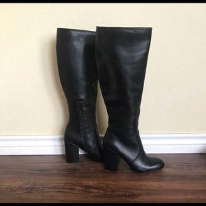 Steve Madden Black Knee High Boots Size 5.5